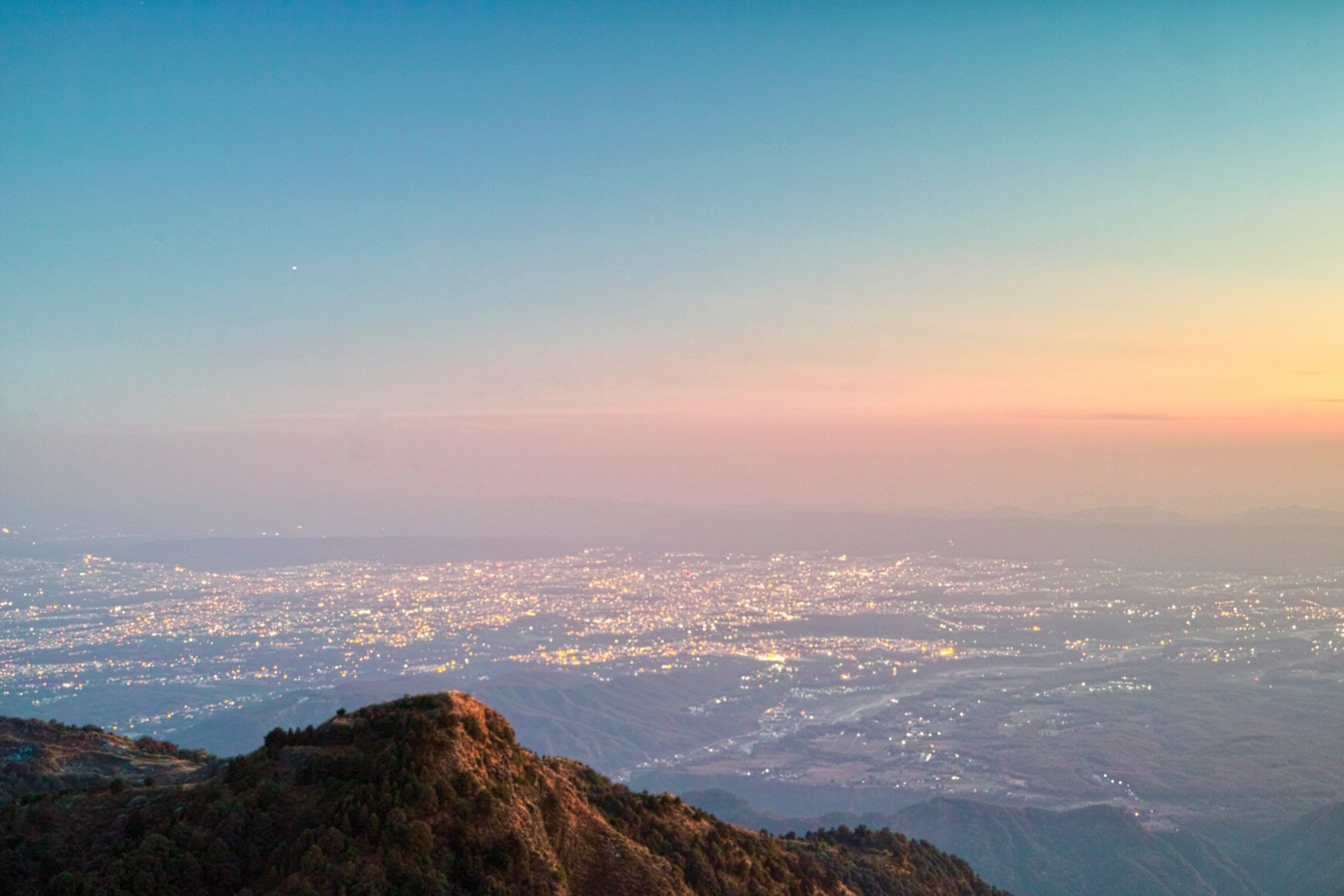 Sunset over Doon Valley from Park House © Bharat Singh Bhadwal. All rights reserved.