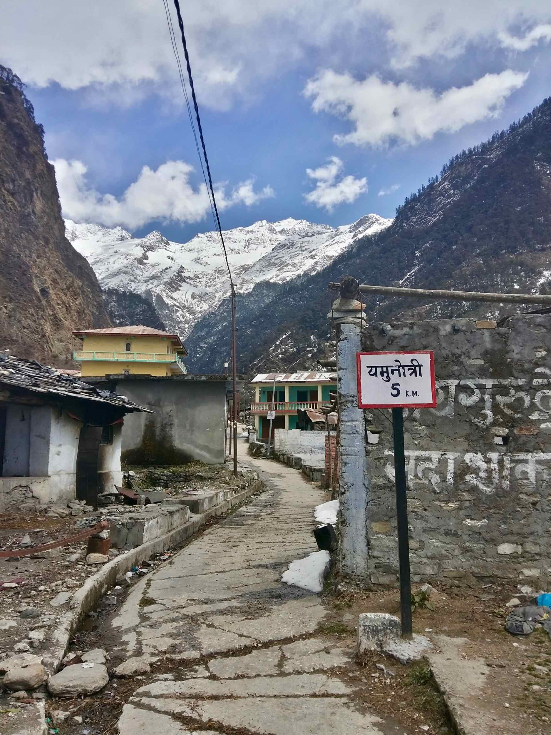 Janki Chatti resembles a ghost town from a western. The main drag lies empty and eerily silent.