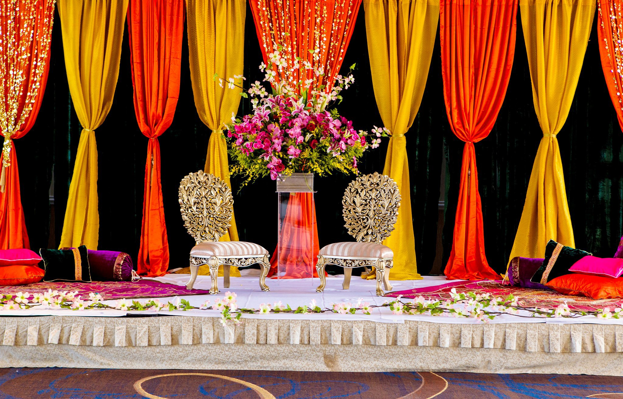 Imperial Decorations - Indian Wedding Mehndi Stage Designs Decorations Ideas.jpg
