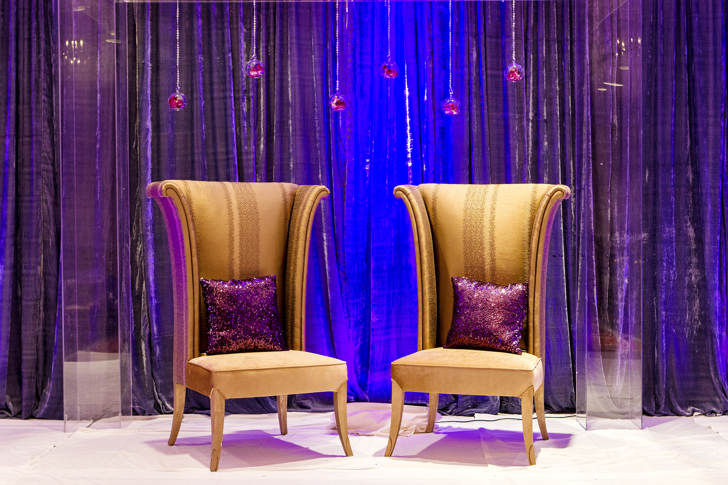 High Back Gold Chairs