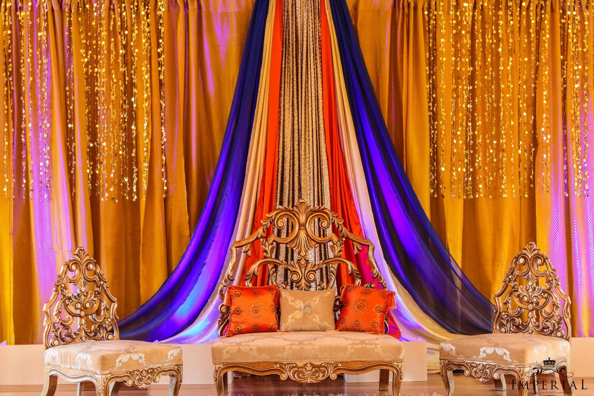 Gold Carved Full Back Sofa Set