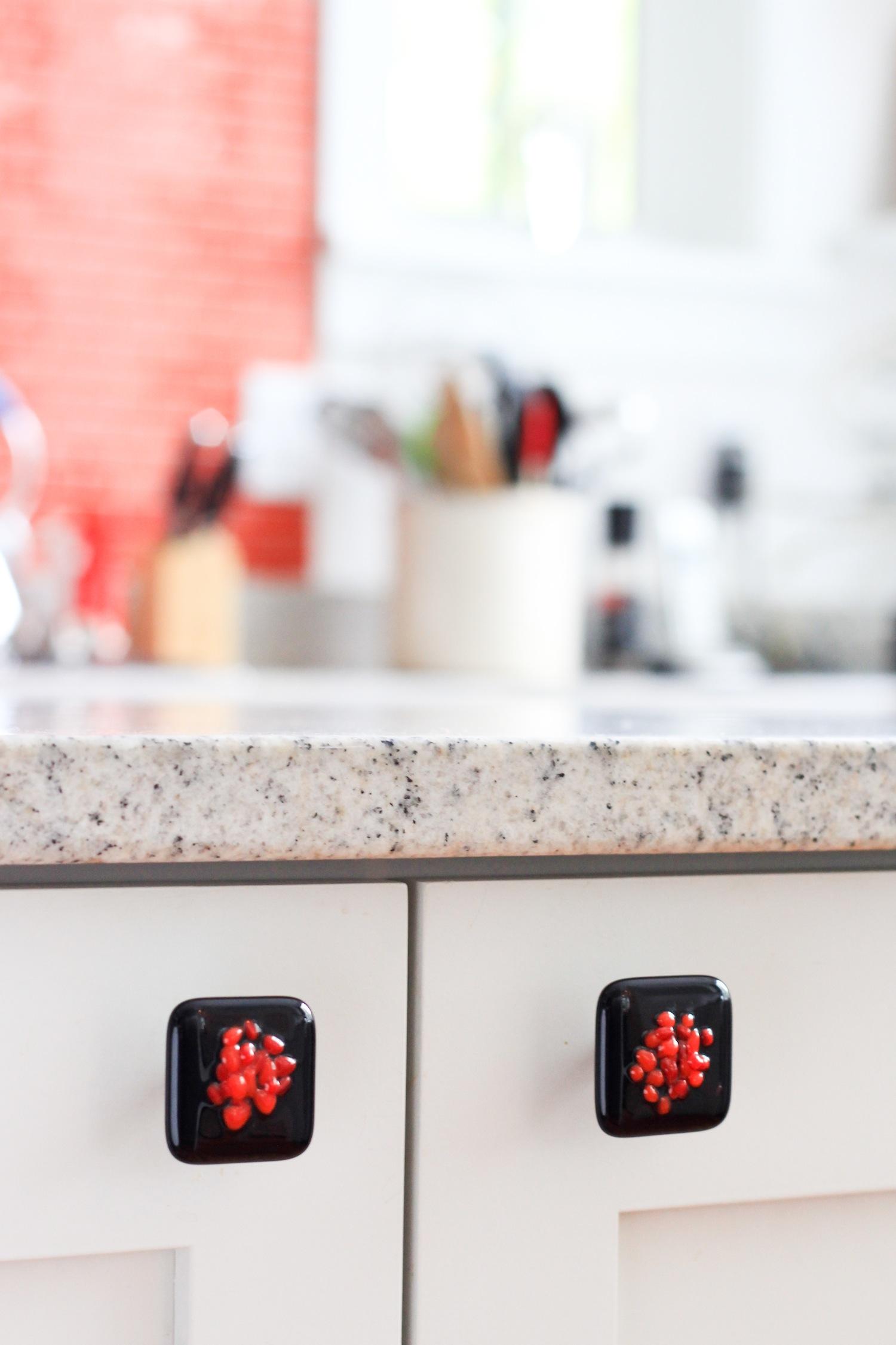 Custom designed knobs for customer's new kitchen