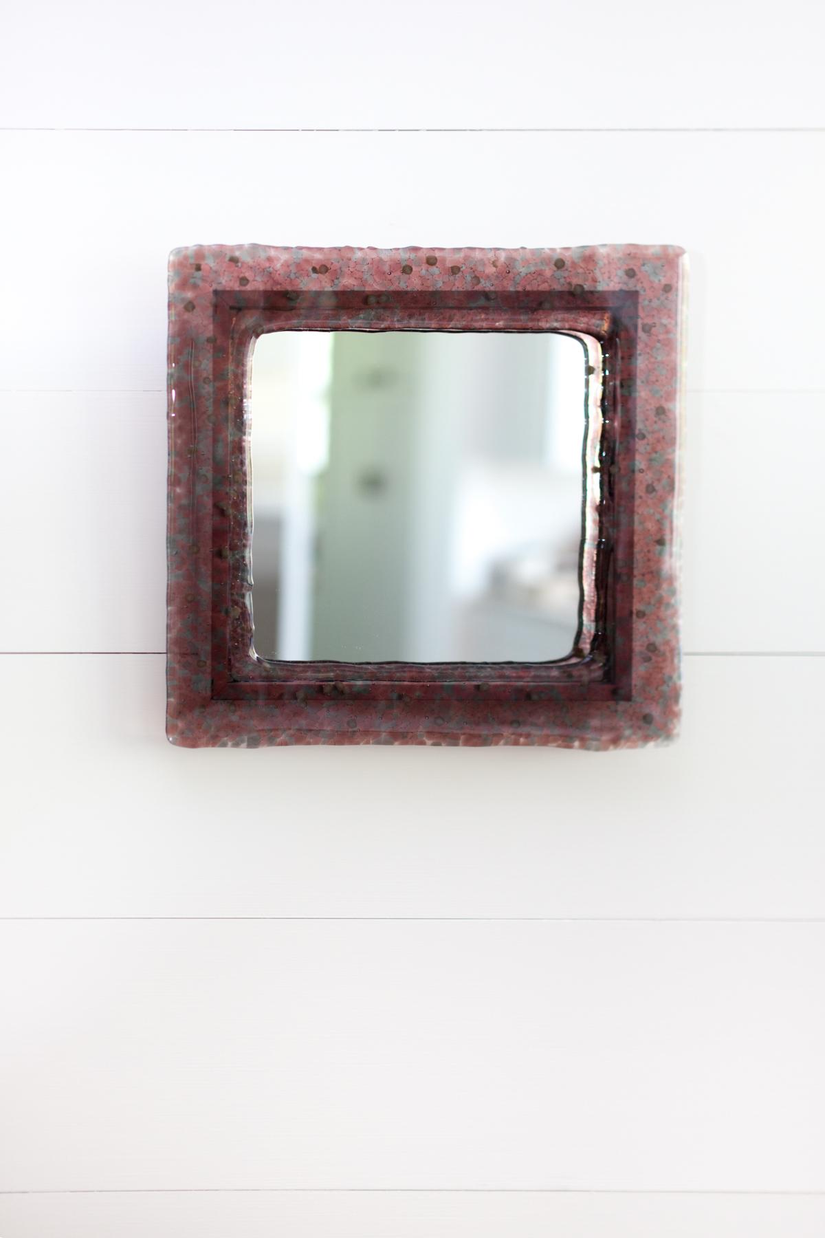 Custom mirror installed in customer's home