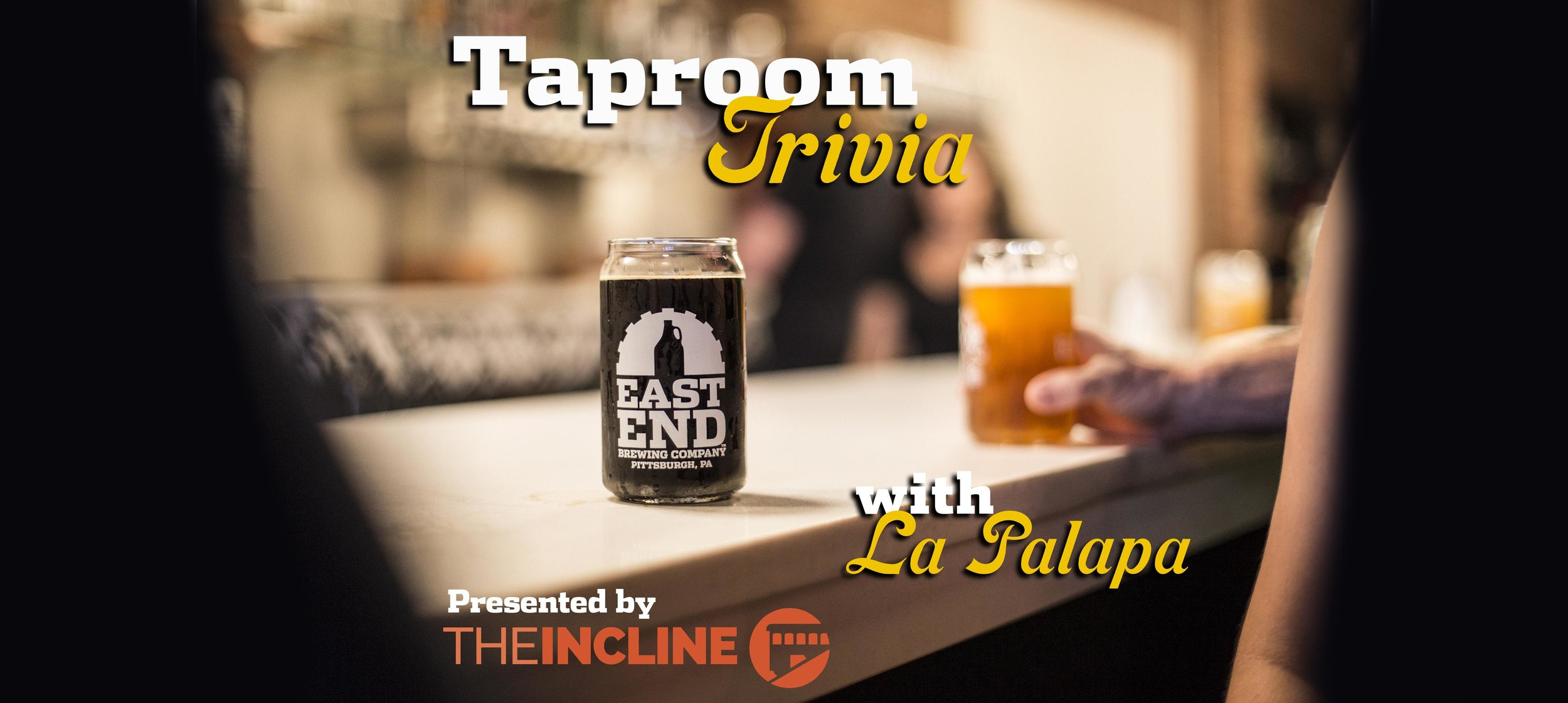 That's right, the Taproom in the Strip has its own trivia night! Our Original Quizmaster Mark is back and we'll have food from our pals at La Palapa Mexican Kitchen. Join us from 6-8pm and form your team for a chance to win prizes and have a great time! Free to participate! Presented by  The Incline.