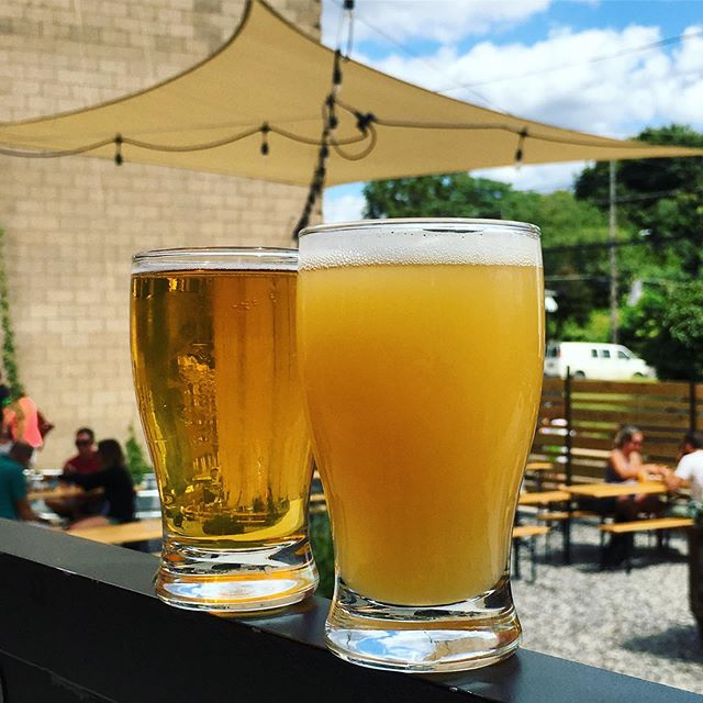 Patio vibes all day today with our favorite Hoppy Dynamic Duo: For The Culture 2.0 and Overbrook Pale Ale. FTC is a 9.1% Imperial Brut IPA we brewed with Black Brew Culture for Fresh Fest, with a smooth dry finish that masks its robust ABV. Overbrook Pale Ale is a 4.8% ABV juicy pale ale with a touch of sweetness to balance the hop flavor. We're low on draft and cans of both, so stop by today to stock up!