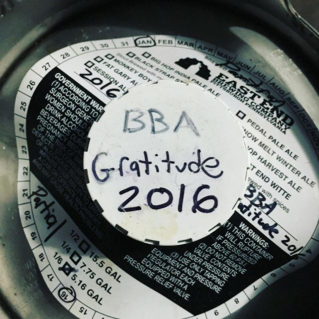 Uh oh. On draft now, while it lasts! . . #barleywine #BiL, #barleywineislife #gratitude #gratitudebarleywine