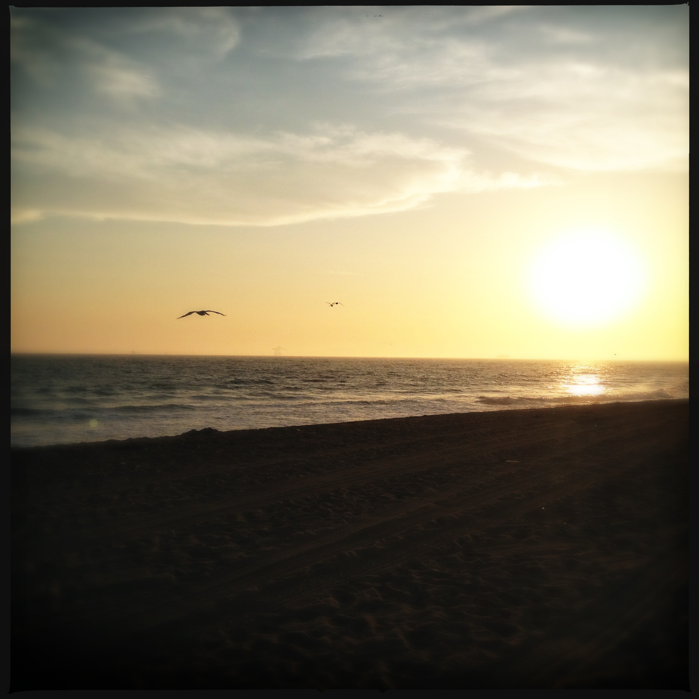 Created with Hipstamatic. Sunset in Huntington Beach.