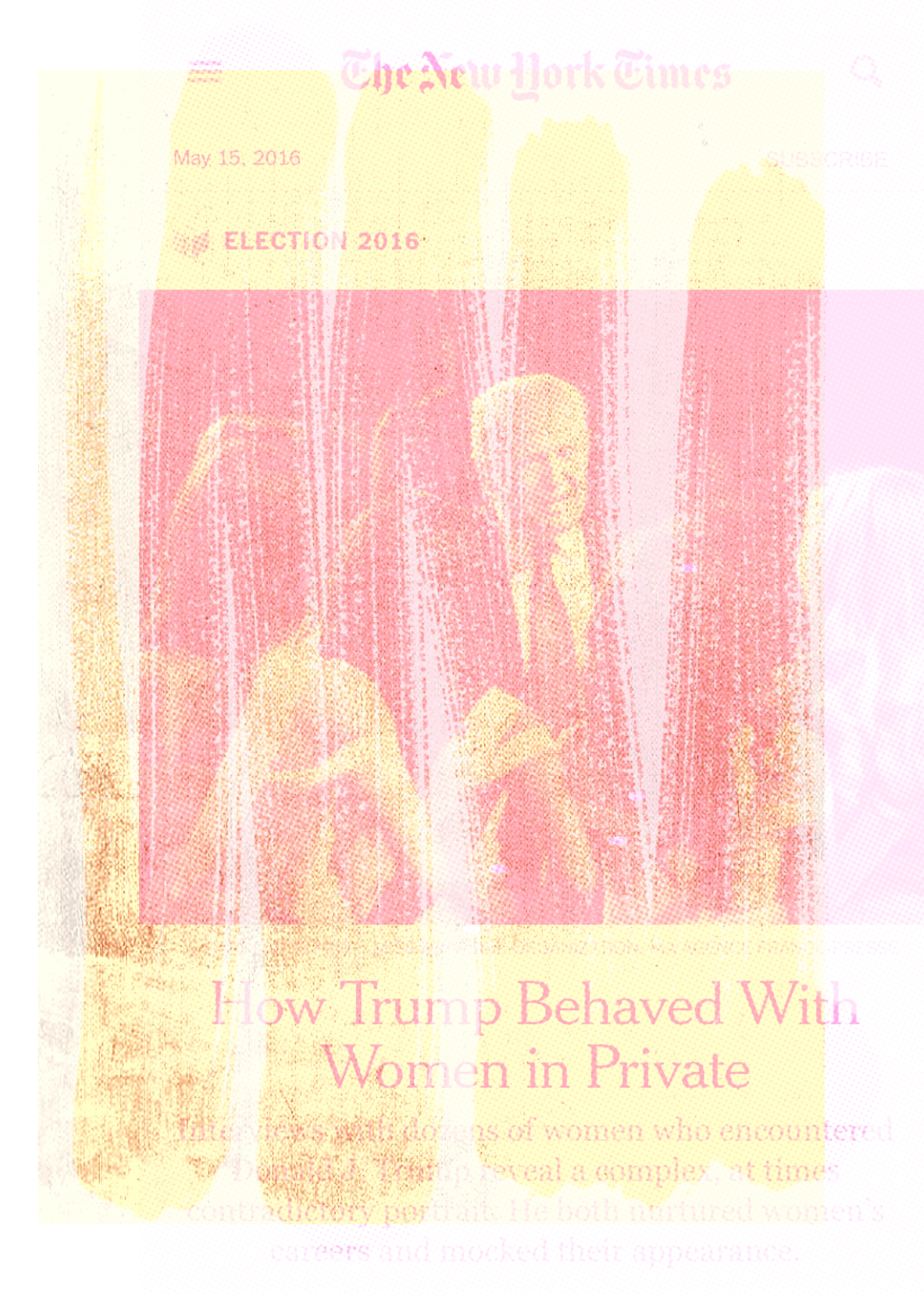 """""""How Trump Behaved"""", iPhone 6S, digital image, 2016."""