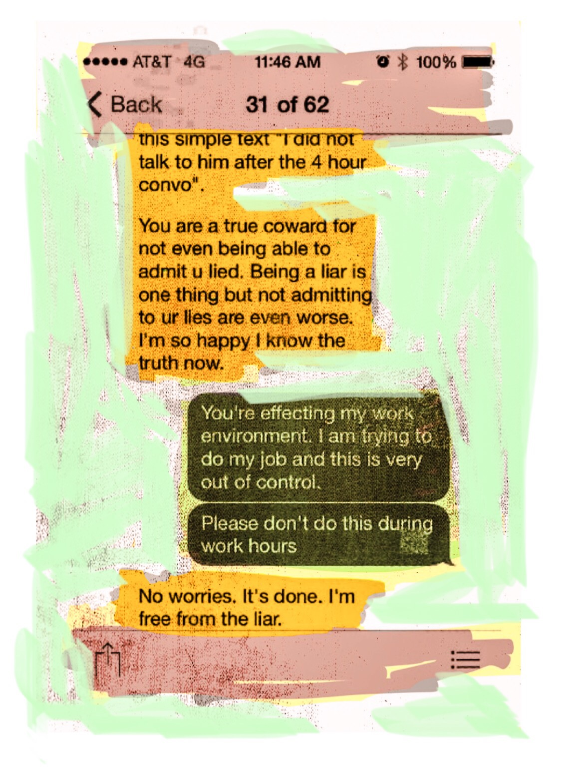 """Texts"", iPhone 6S, digital image, 2016."