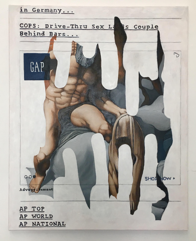 """Drive-Thru Sex"", 80 cm x 100 cm,oil on canvas, 2017."
