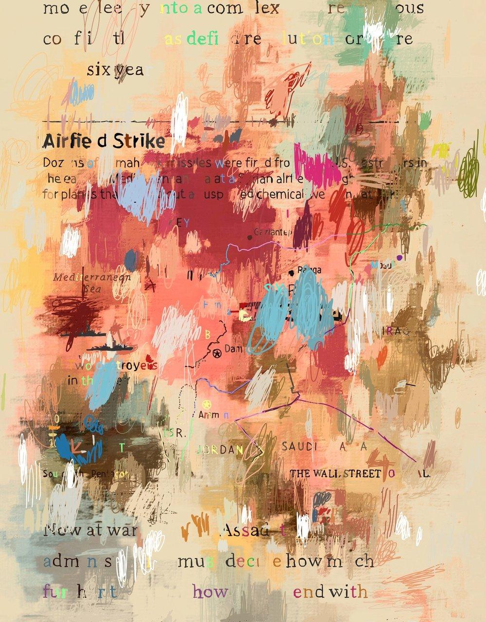 """""""Airfield Strike"""", iPhone 6S, digital image."""