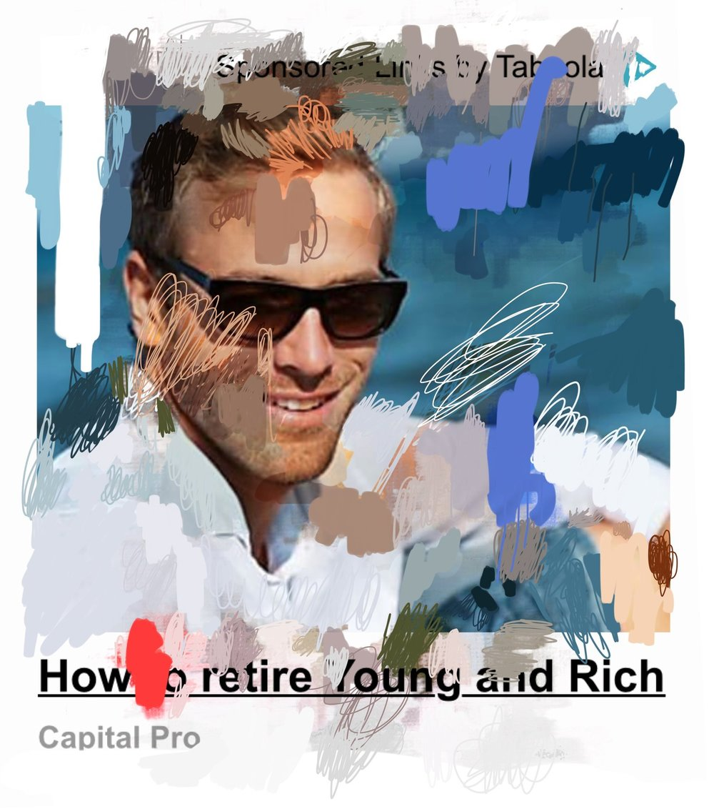 """How to Retire Young & Rich"", iPhone 6S, digital image."