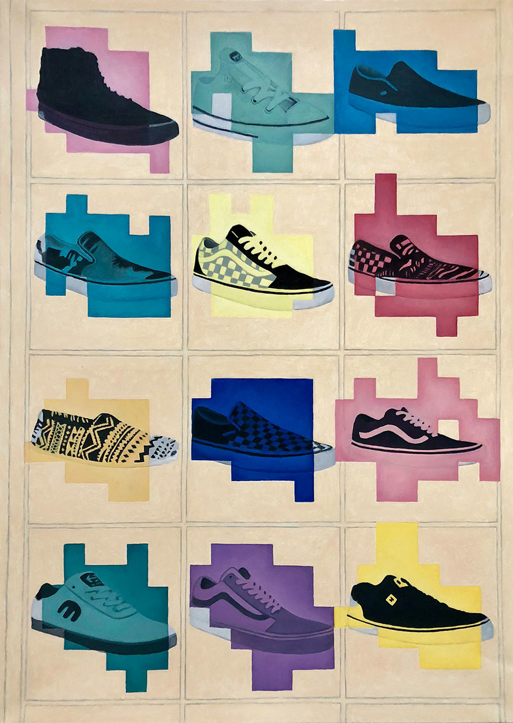 """Shoes"", 100 cm x 140 cm, oil on canvas."