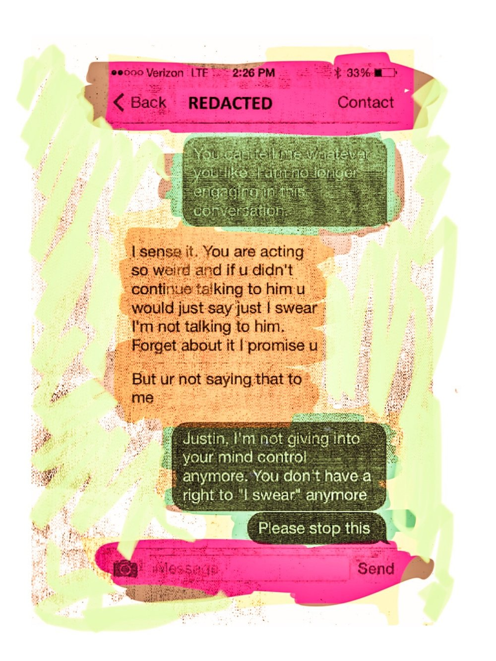 """Texts"", iPhone 6S, digital image."