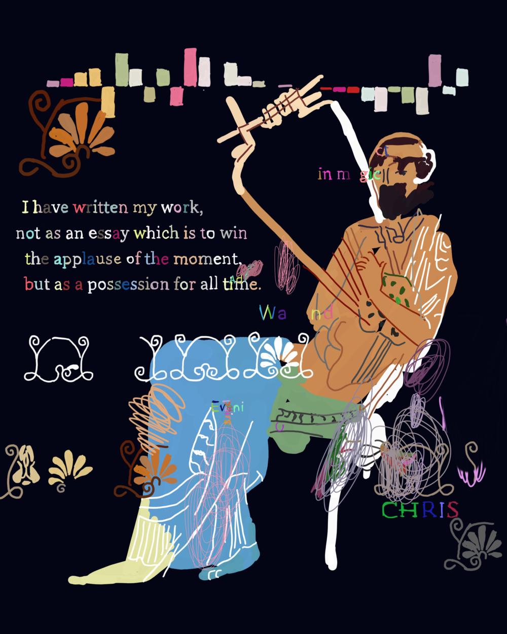 """The Peloponnesian War 1.22"", iPhone X, digital image."