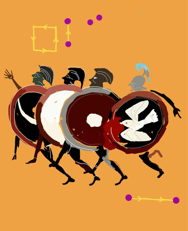 """Study for The Peloponnesian War"", iPhone X, digital image."