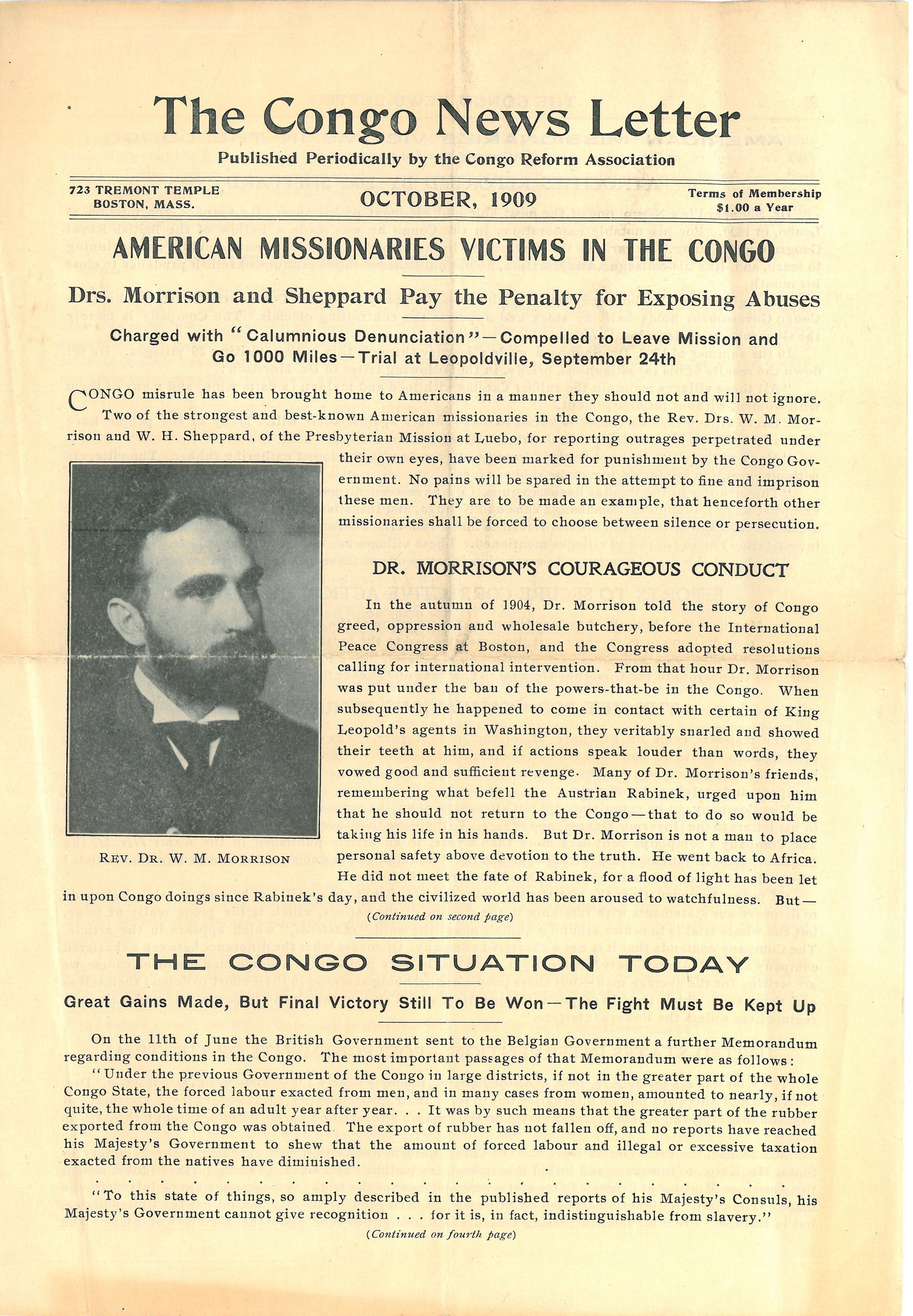 The Congo News Letter