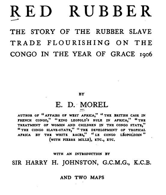 Red Rubber by Edmund Morel