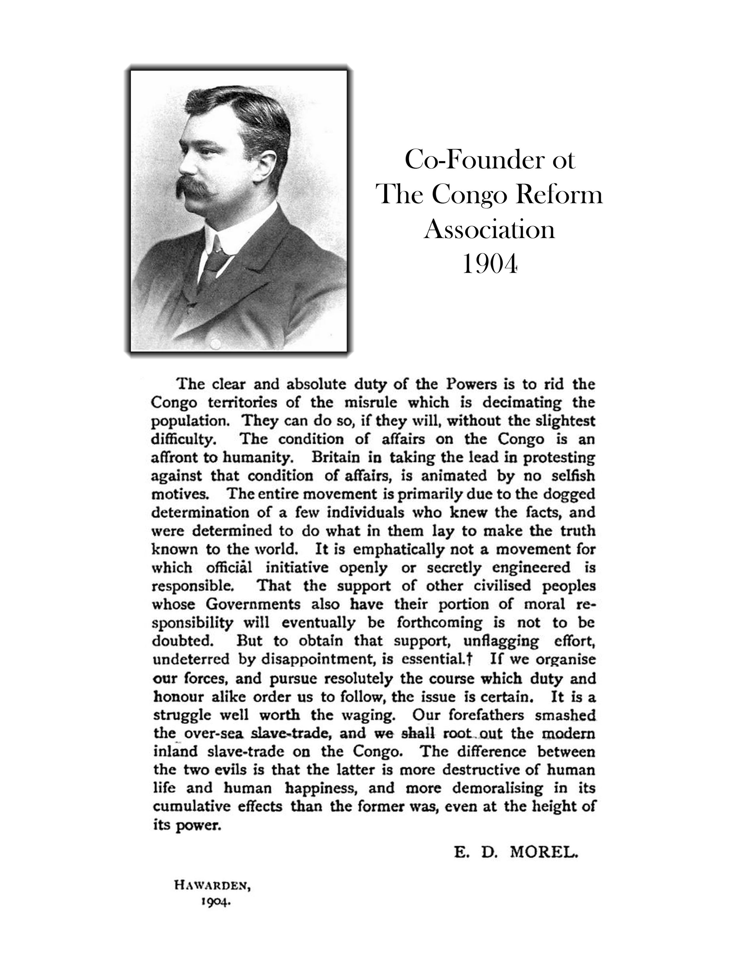 Edmund Morel & the C.R.A.