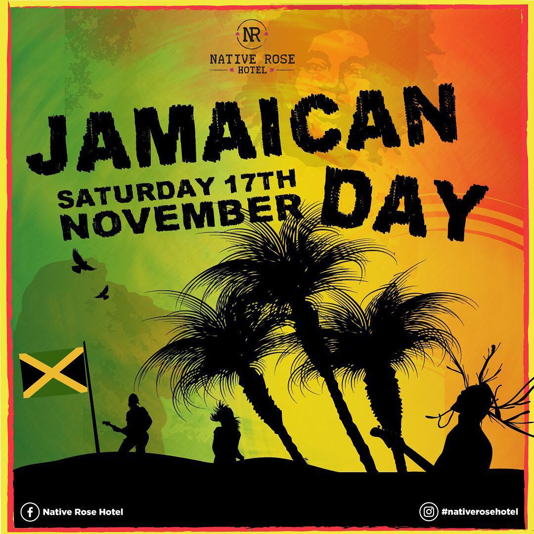 Do you like the laid back lifestyle? How about rum and BBQ jerk chicken? Then come along to our Jamaican party, Saturday November 17. We'll have me pumping out some chilled out riddims, while you kick back sipping on mojitos and chomping on flavours from the Caribbean.