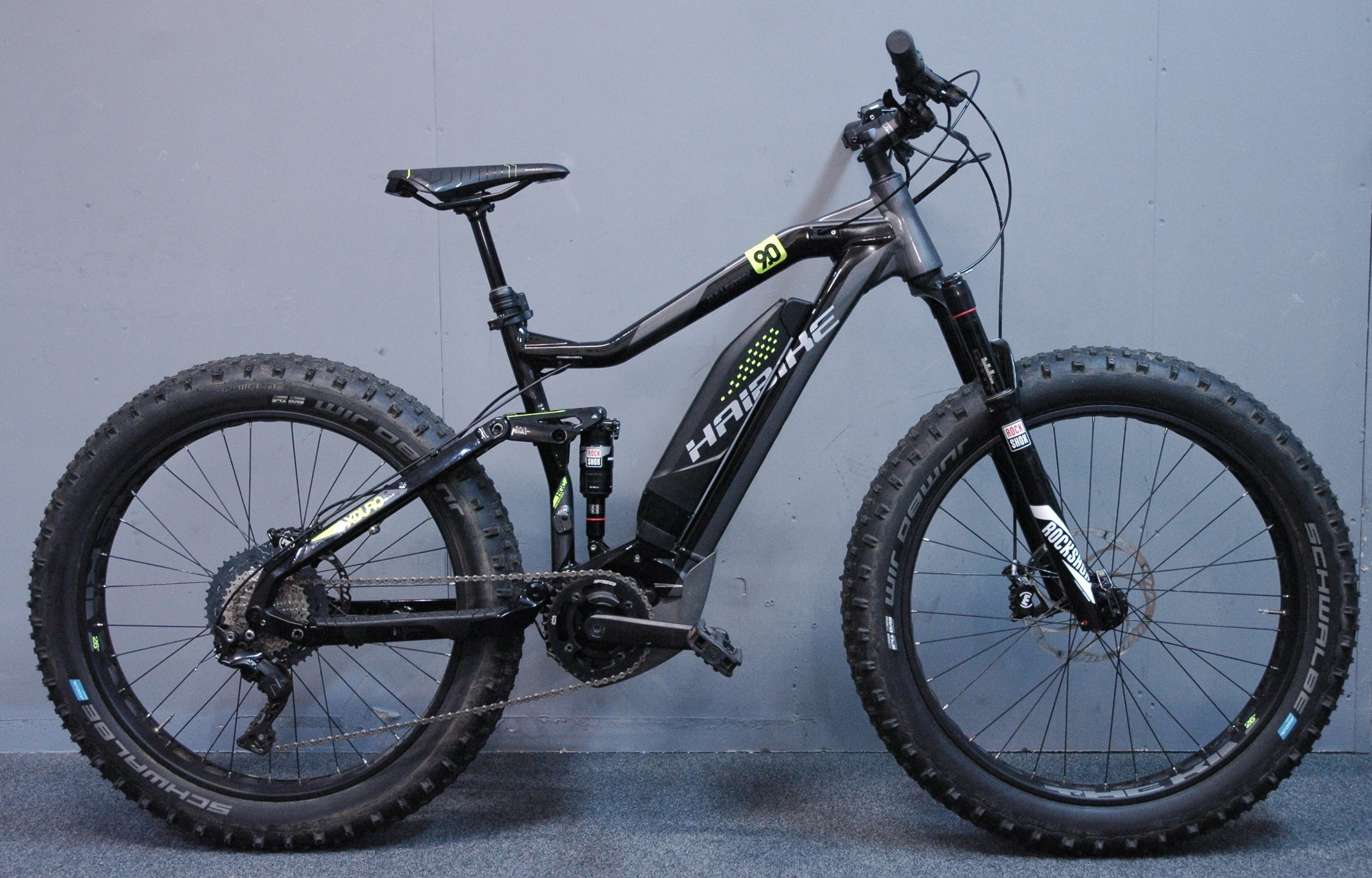 Haibike FatSix Electric Mountain Bike- Medium Size Frame   25-50 mile battery range for all day rides on the beach