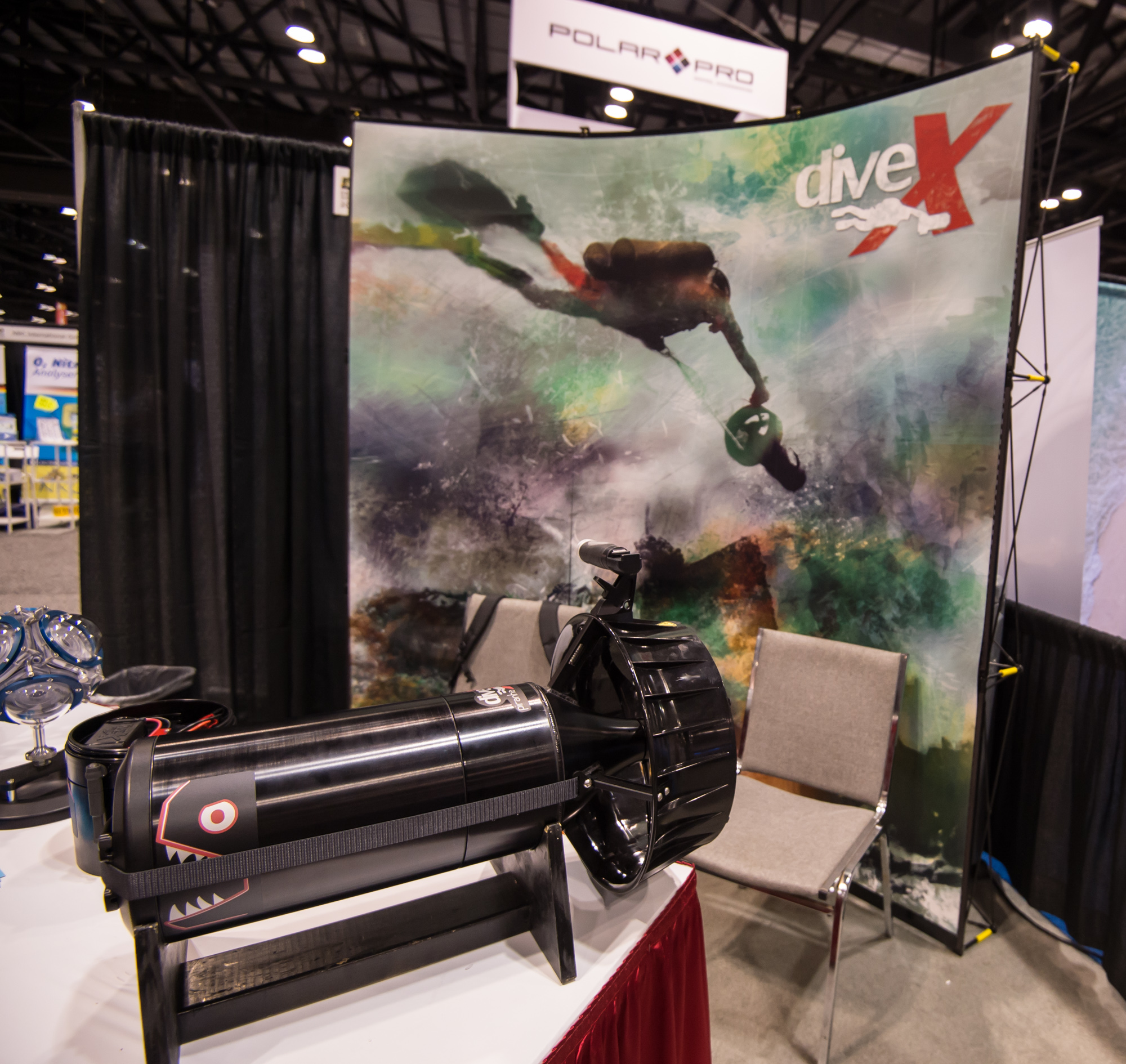 A new version of the Dive Xtras Piranha DPV features a NiMH battery that is TSA approved for air travel, albeit 10 pounds heavier and a bit longer than the lithium version unveiled last year