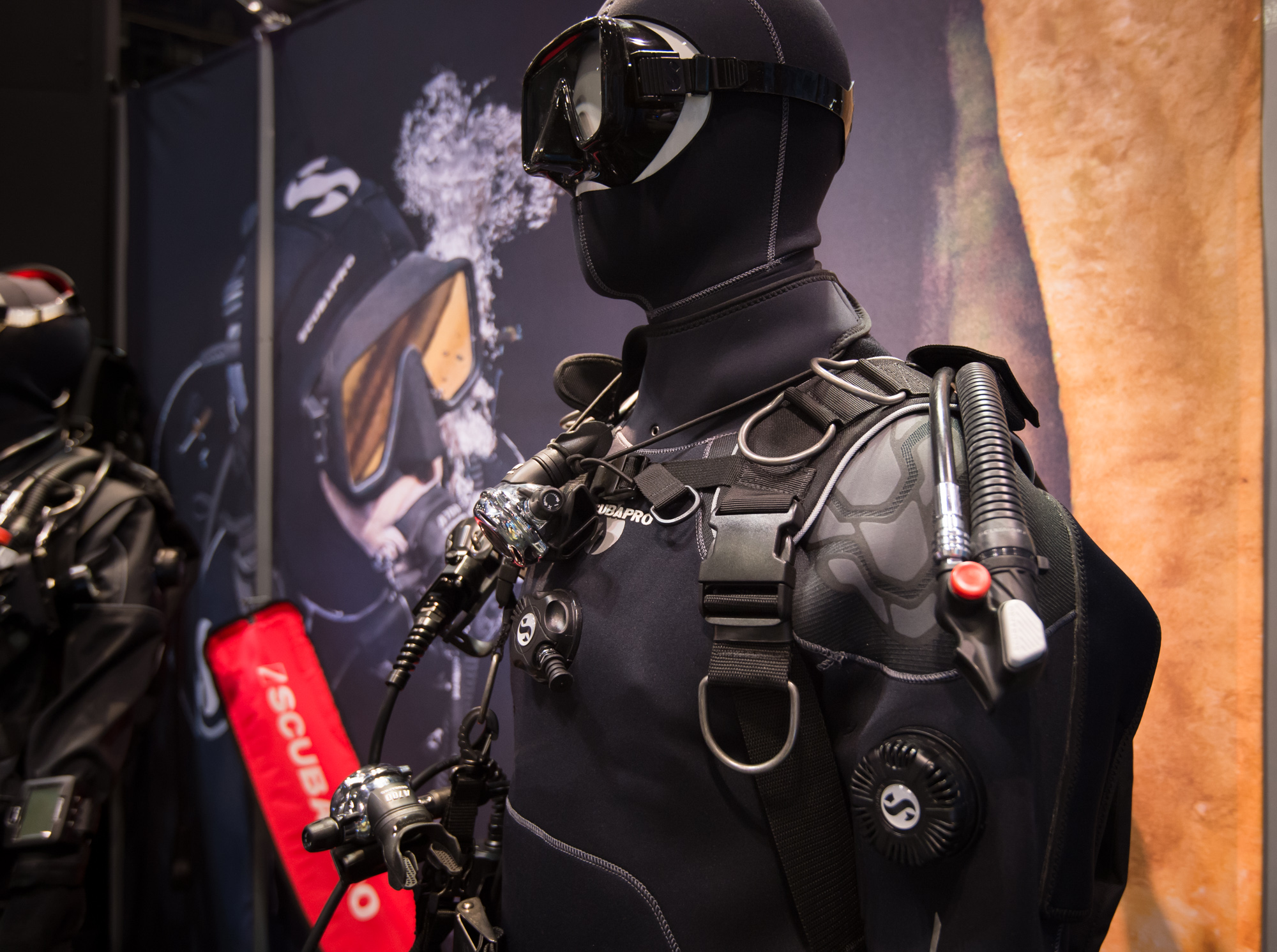 SCUBAPRO didn't show off too much in terms of new gear, but their  recent acquisition of SEABEAR  will bring a whole new catalog of tech to the storied company