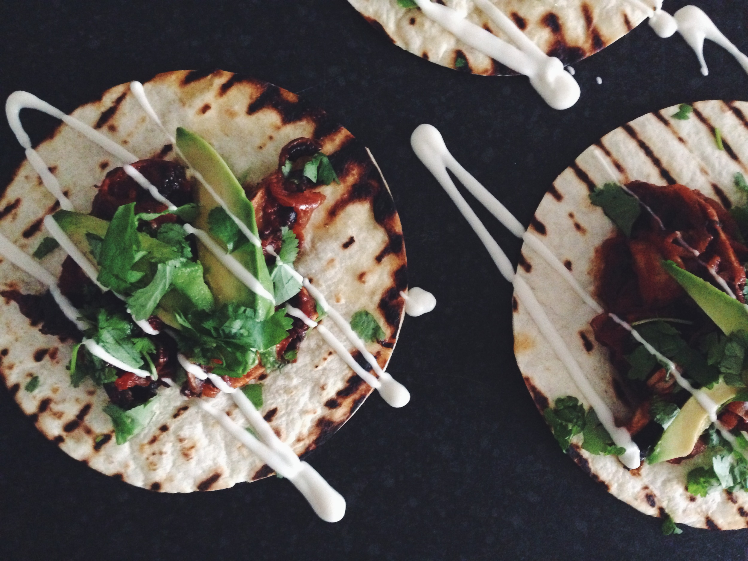 chipotle mushroom tacos