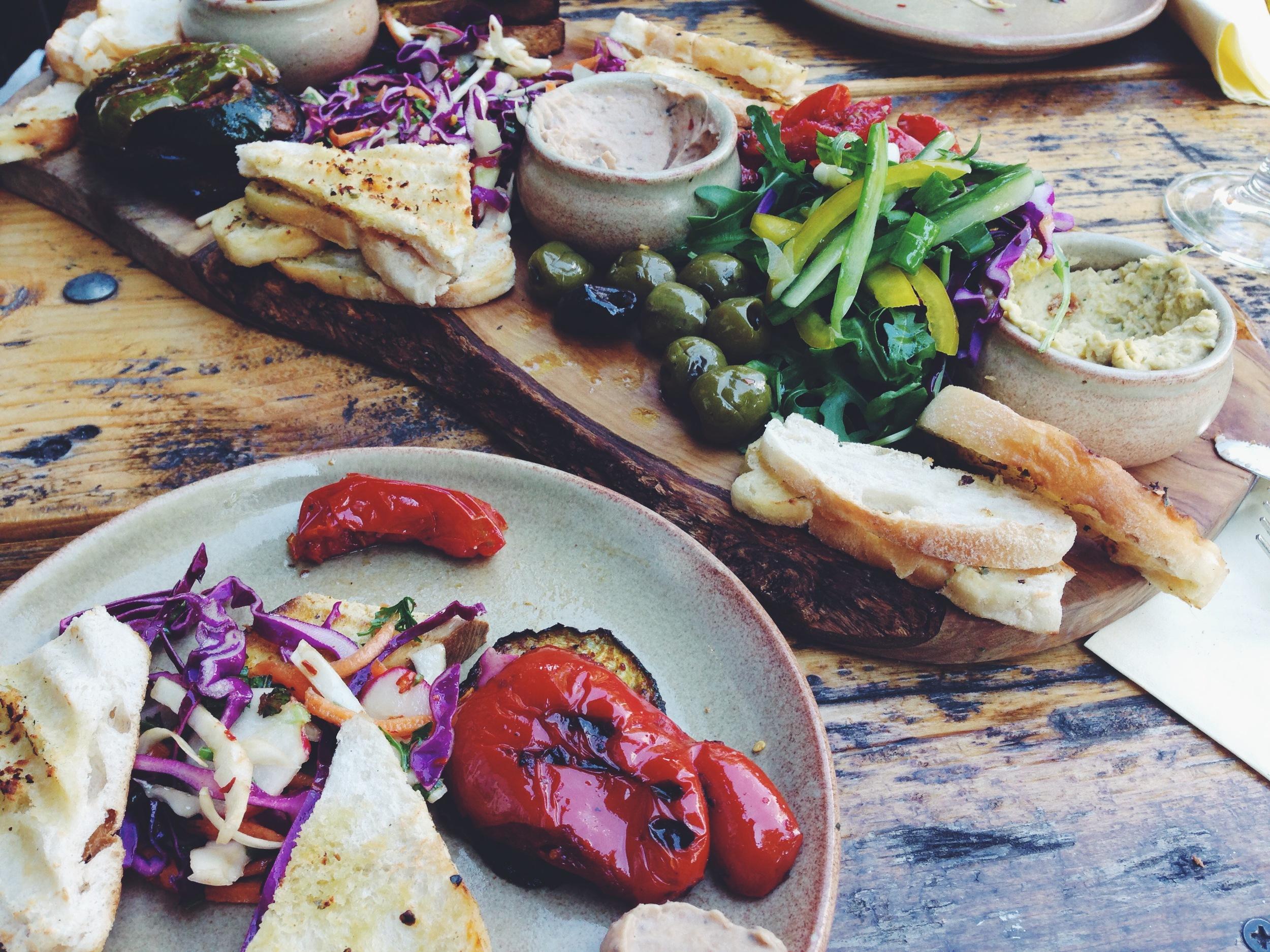 The vegan platter at The Font, Chorlton