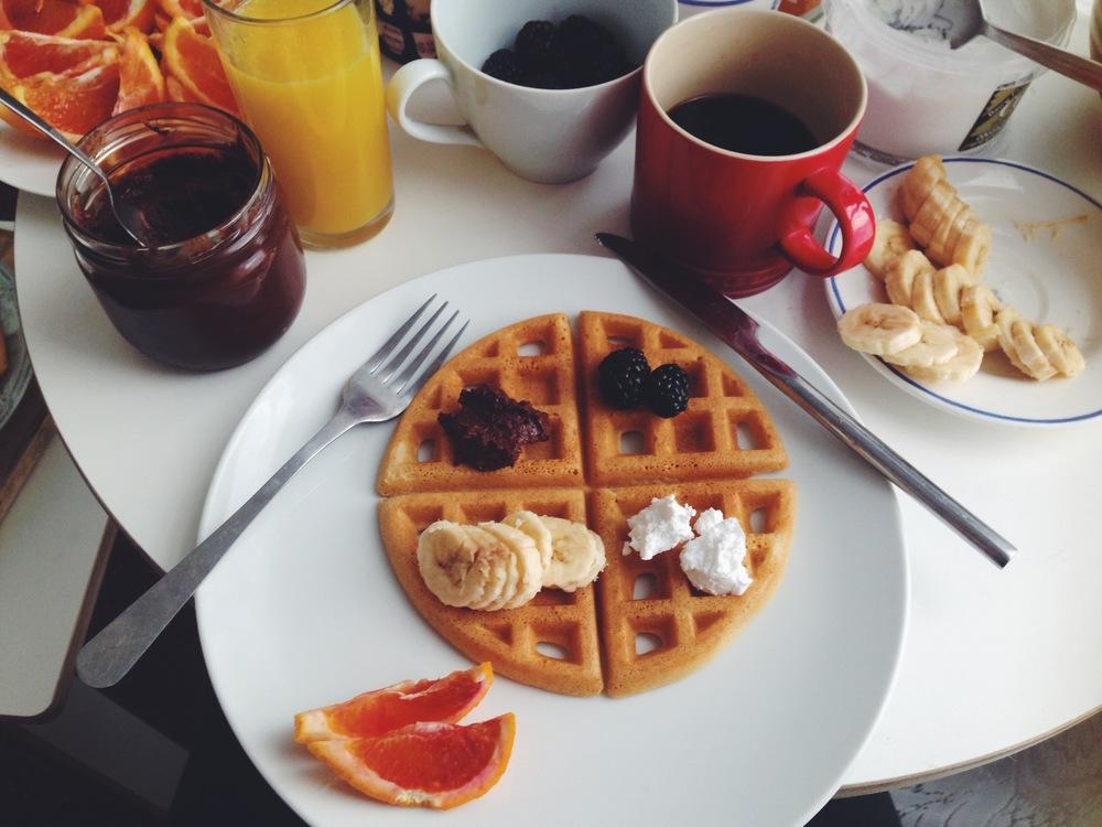 Vegan. gluten free waffles by the amazing Midnight Bakes