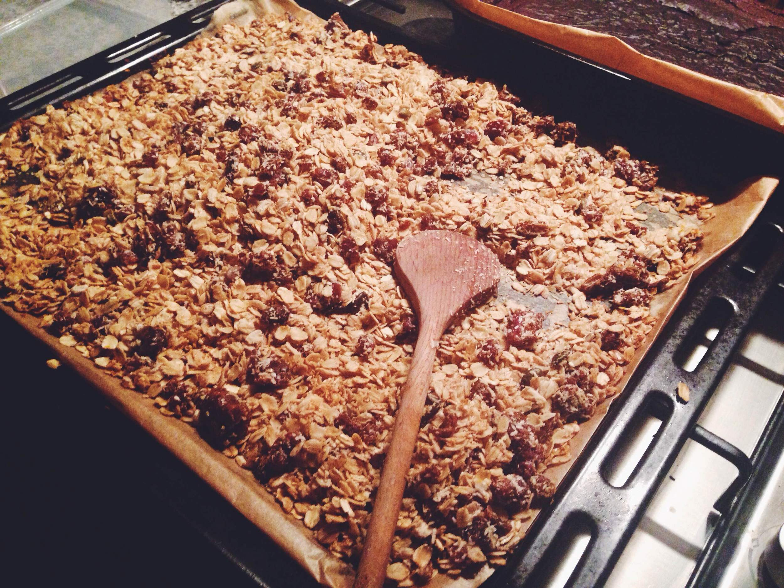 The late night granola factory, open for bizz