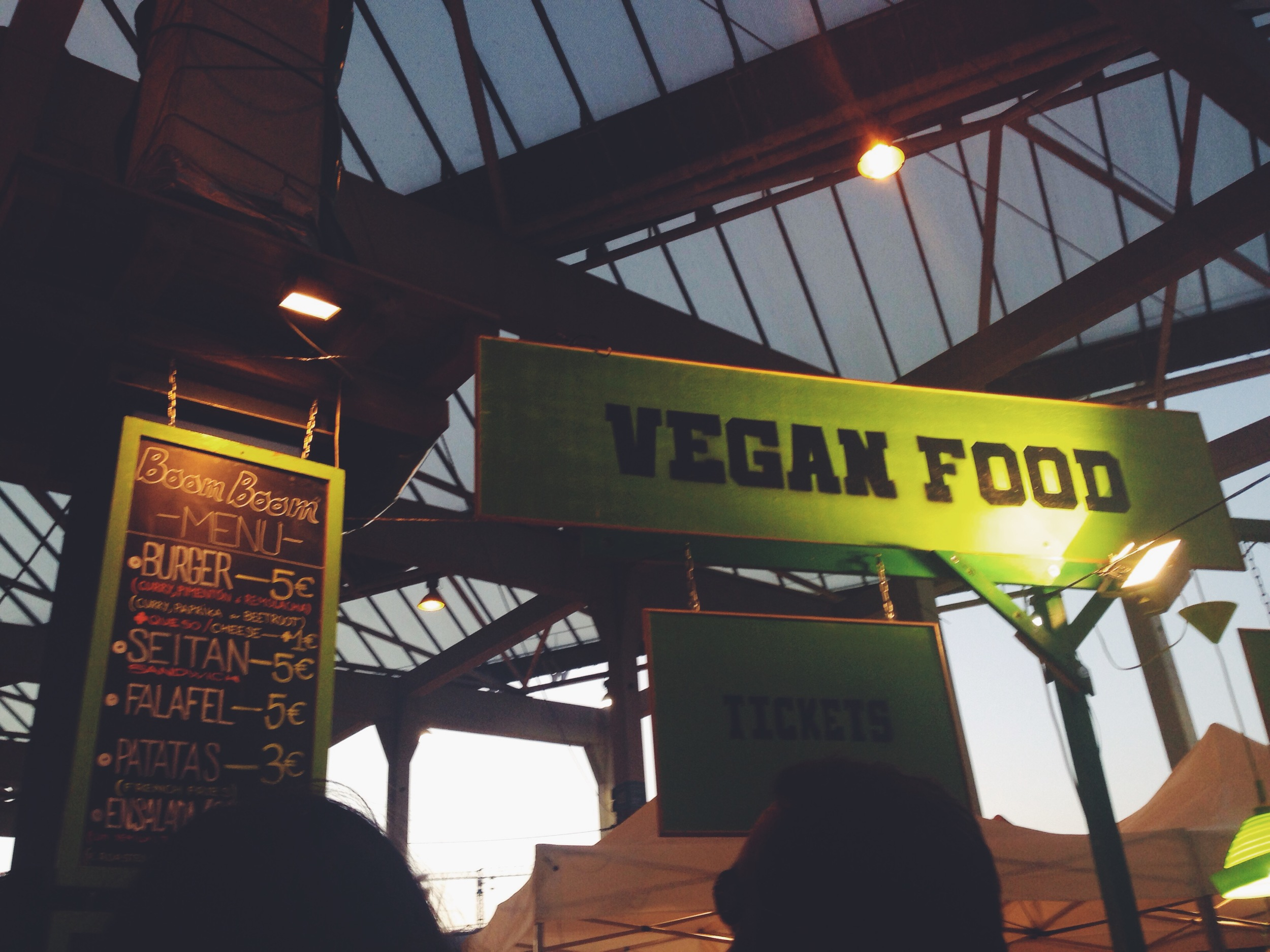 vegan at Primavera