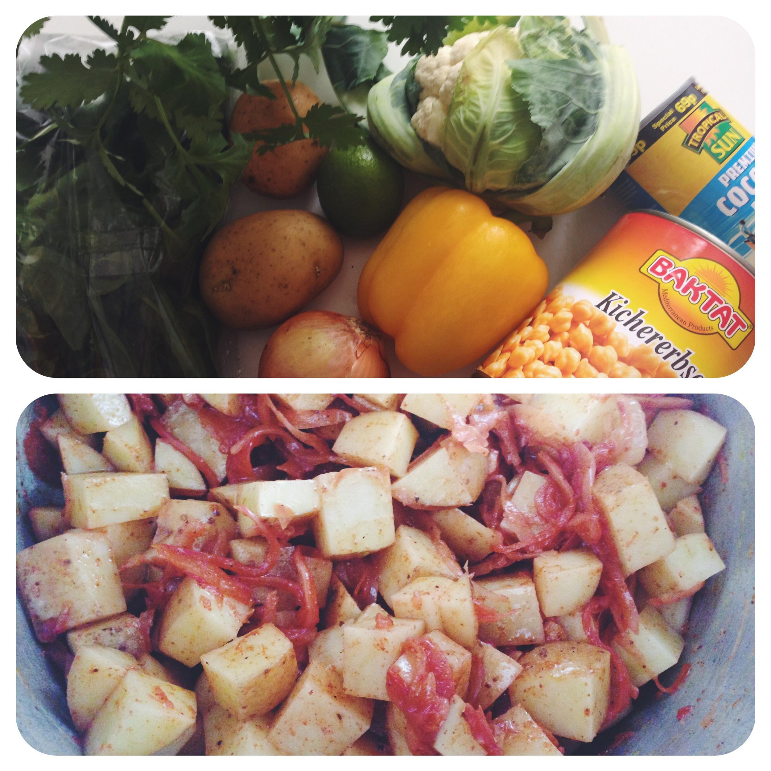 cauliflower and chickpea curry vegan freezer meals