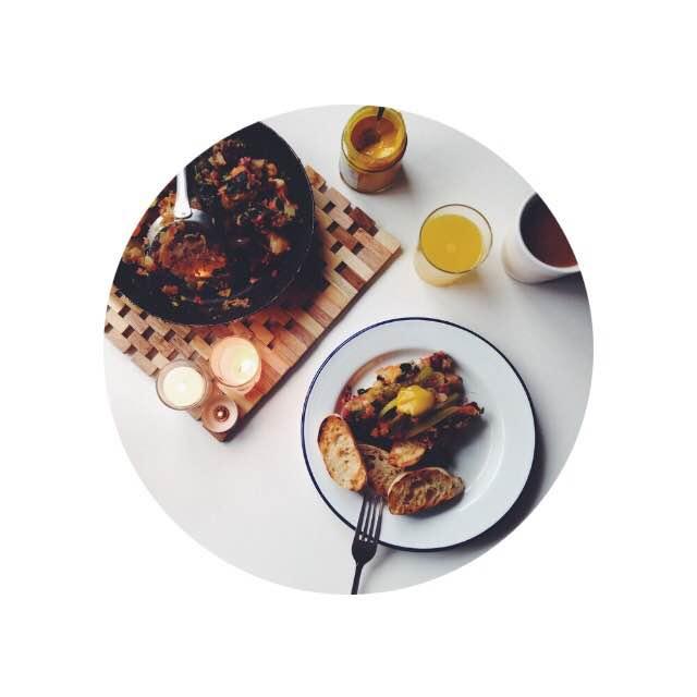 beet and chard vegan hash