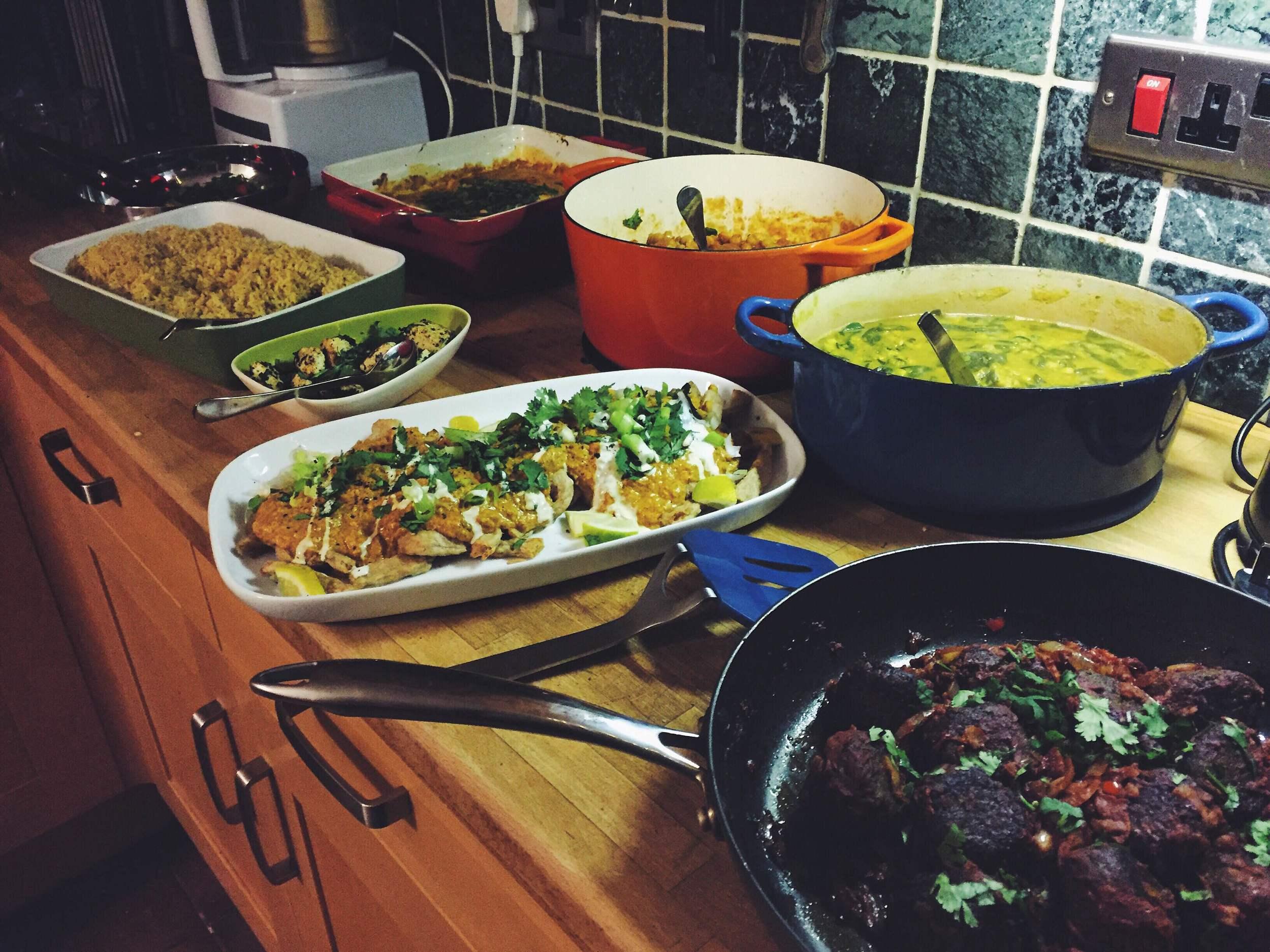 vegan christmas curry