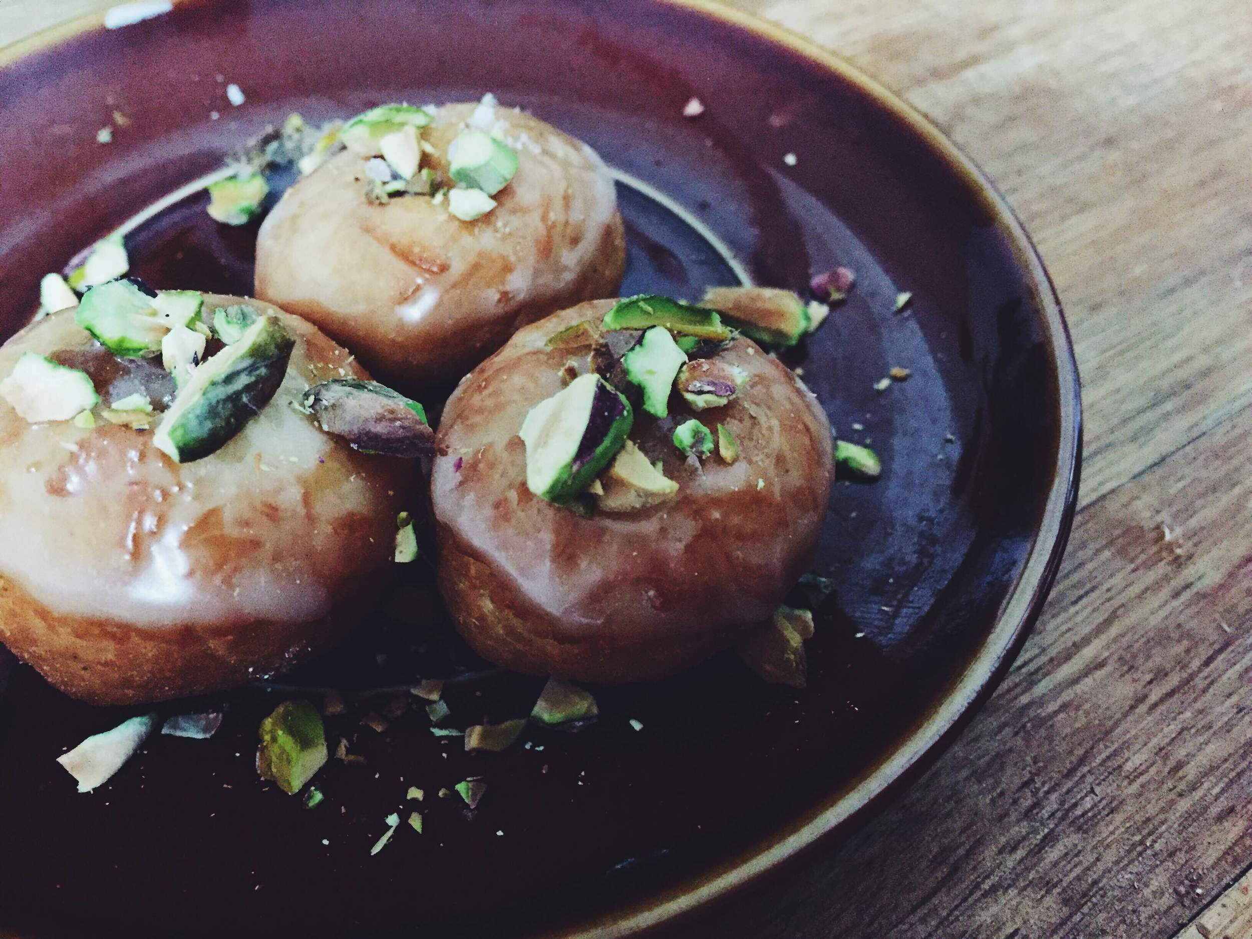 vegan chai infused donuts