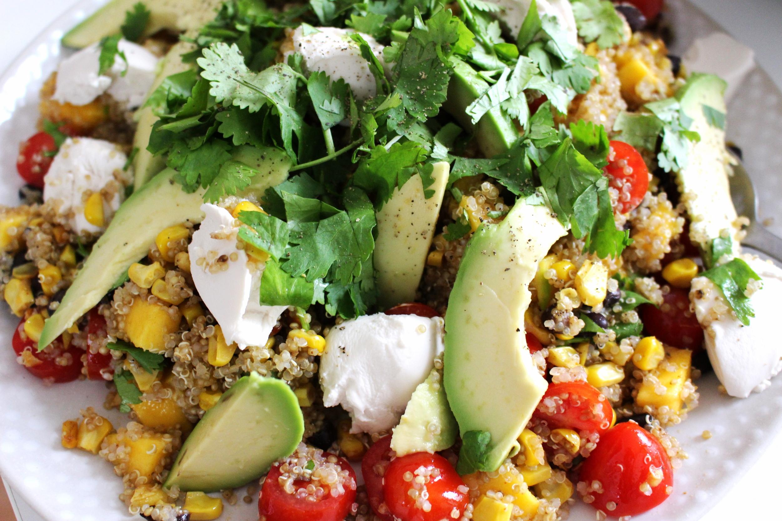 corn black bean and mango salad