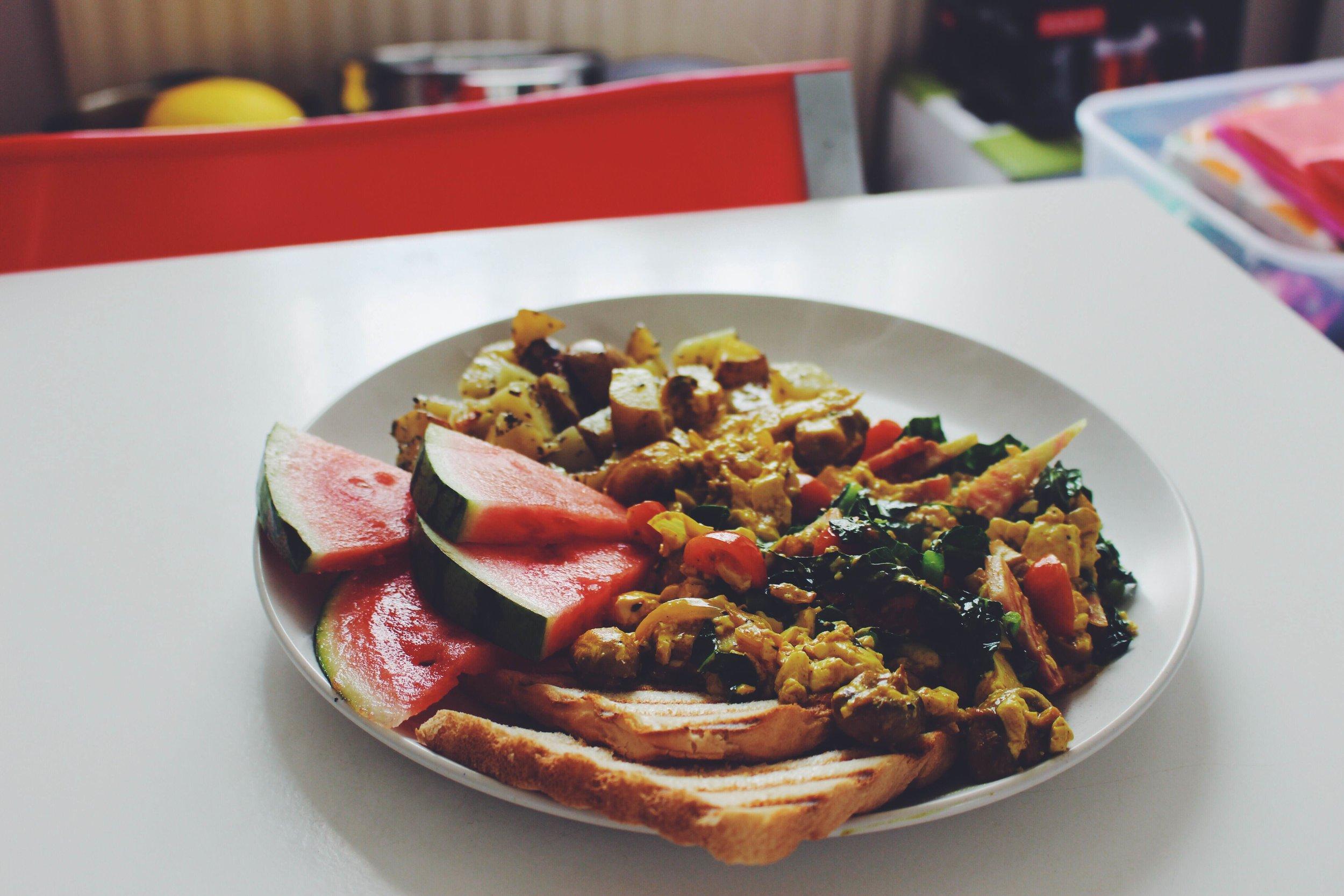 vegan scrambled tofu recipe