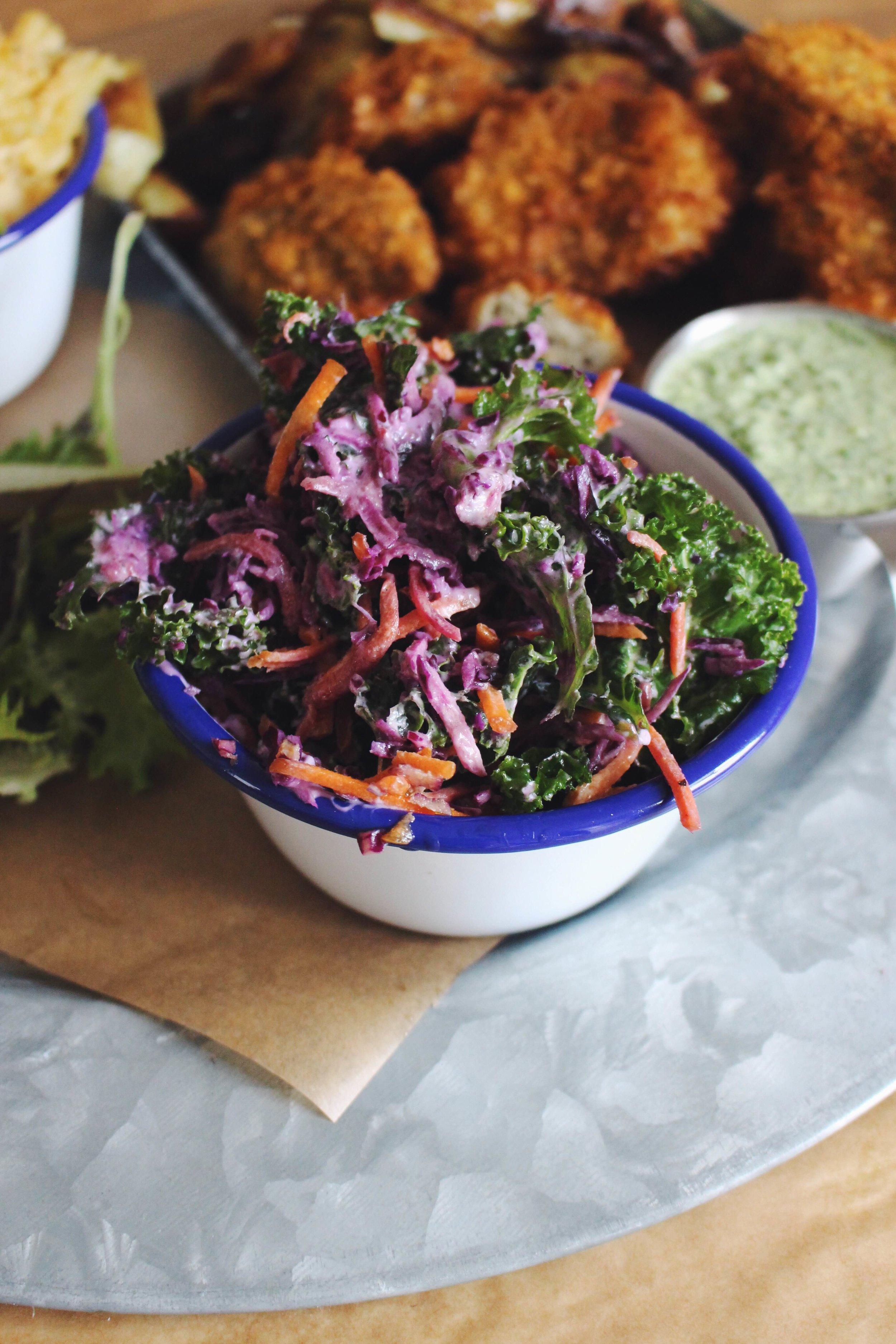 vegan coleslaw garlic mayo