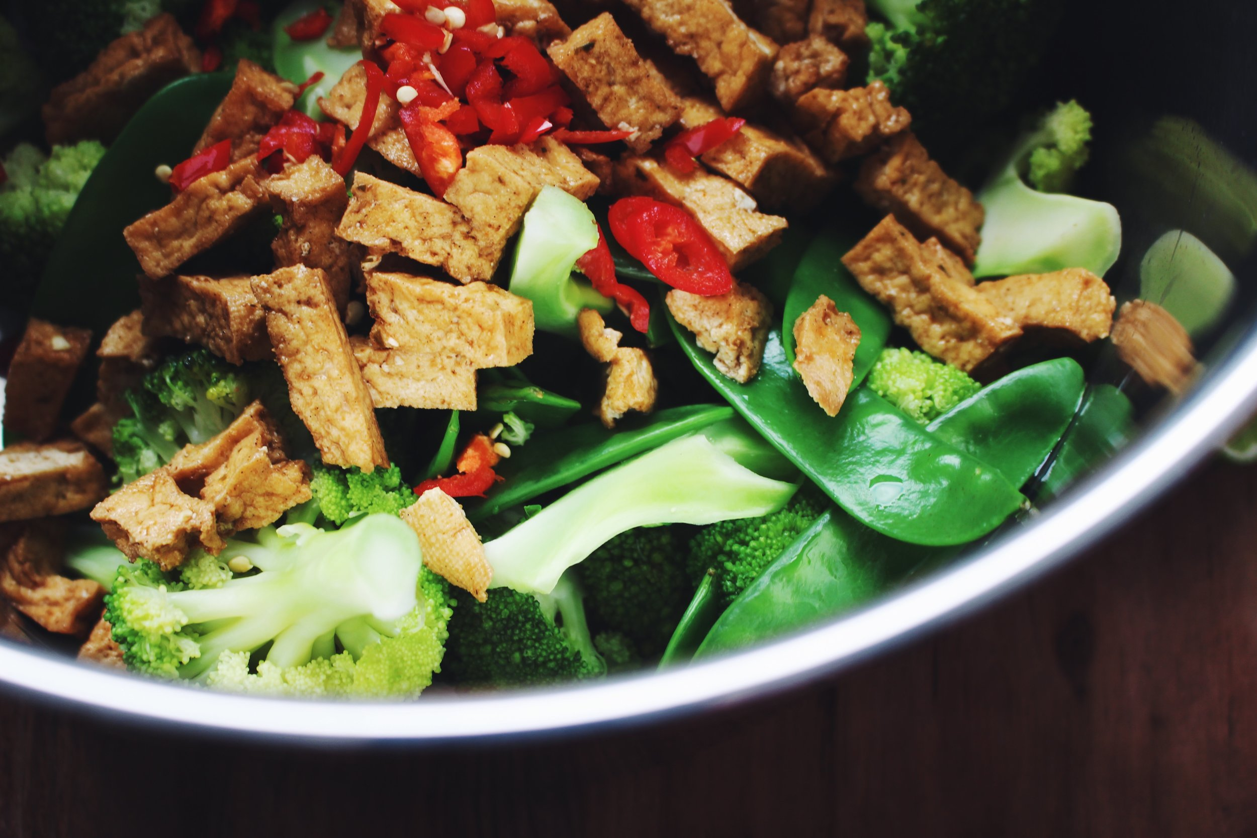 tofu broccoli salad
