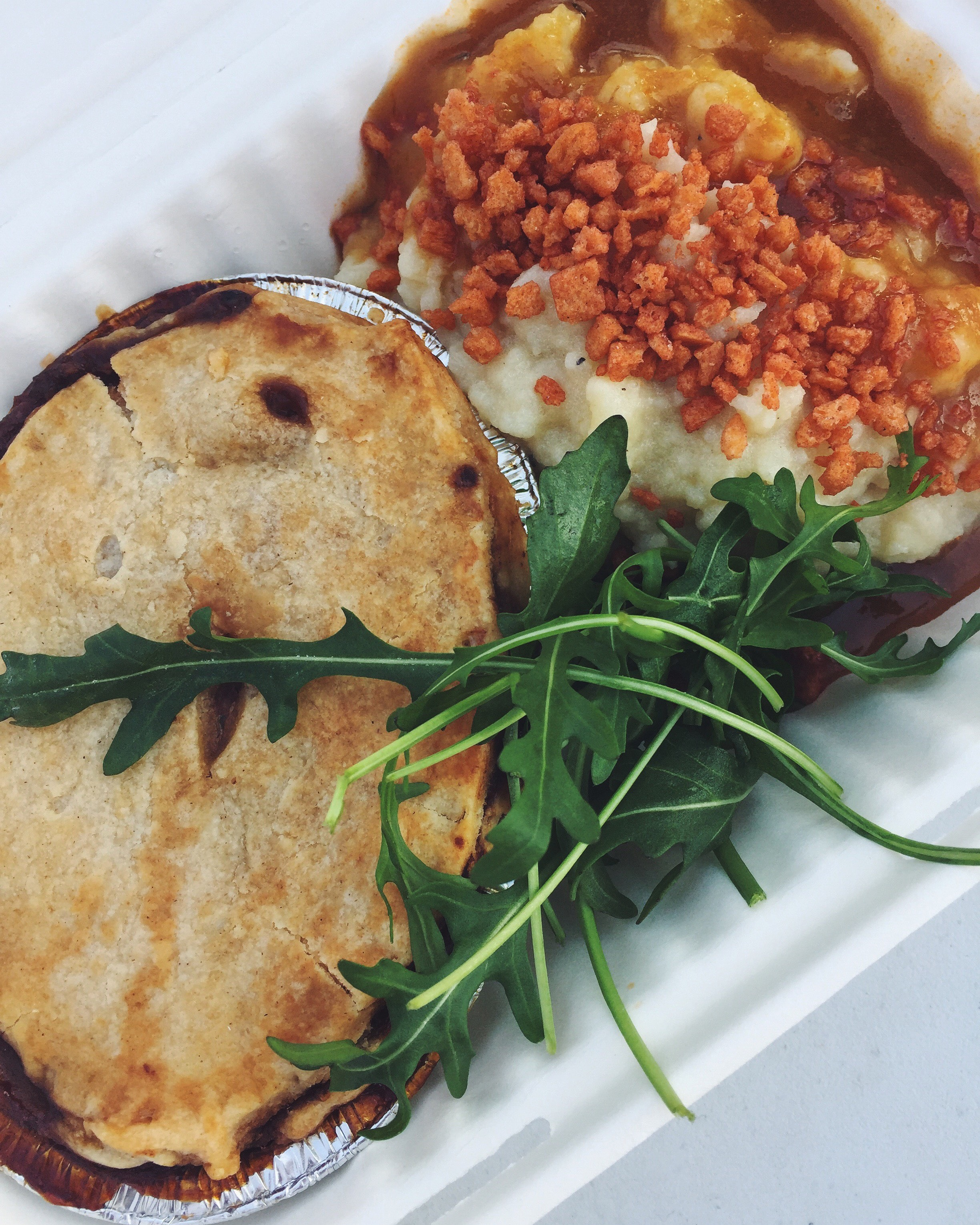 Oh and Young Vegans' incredible pie and mash... which is also available at Tottenham Green on Sundays when the Farmers Market is on!