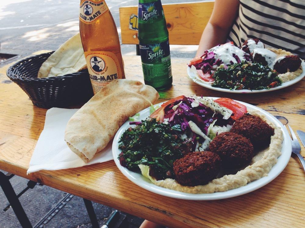 Germany - Black coffee, Club Mate, falafel and seitan burgers