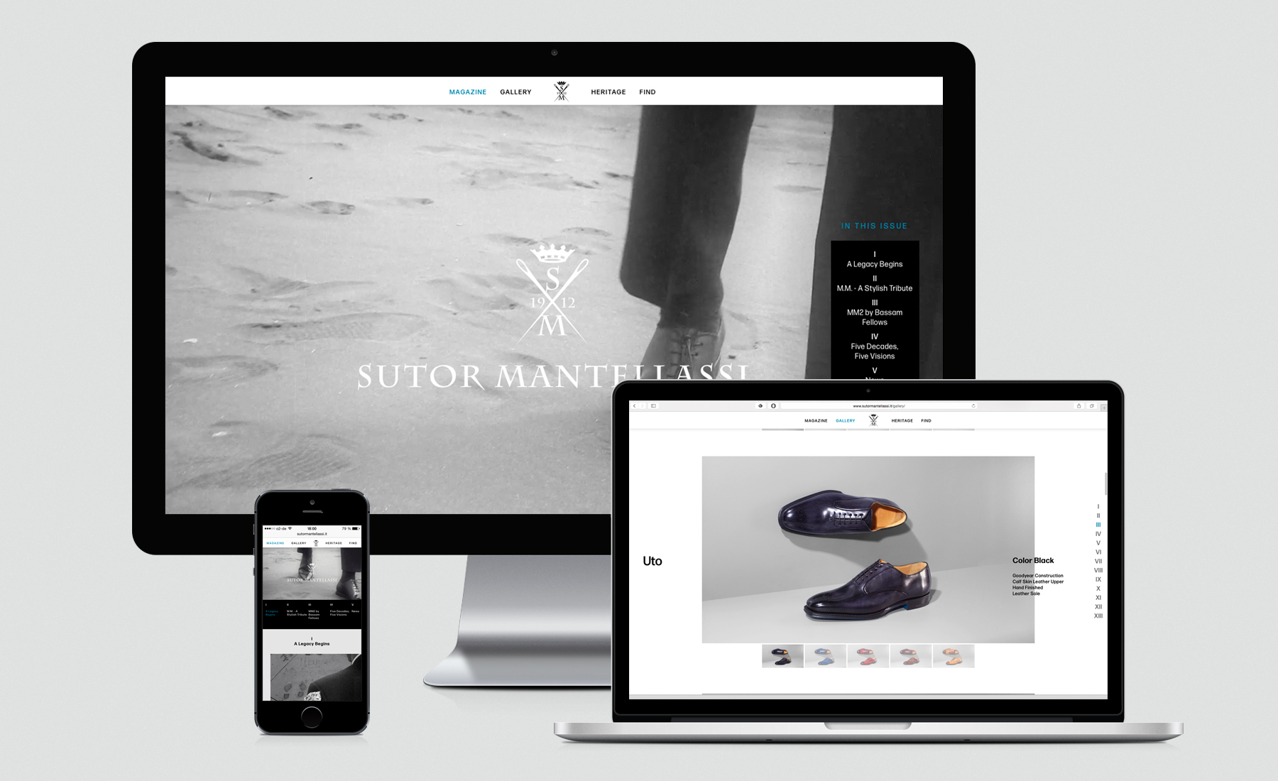 Sutor Mantellassi's responsive online presence at launch 2015