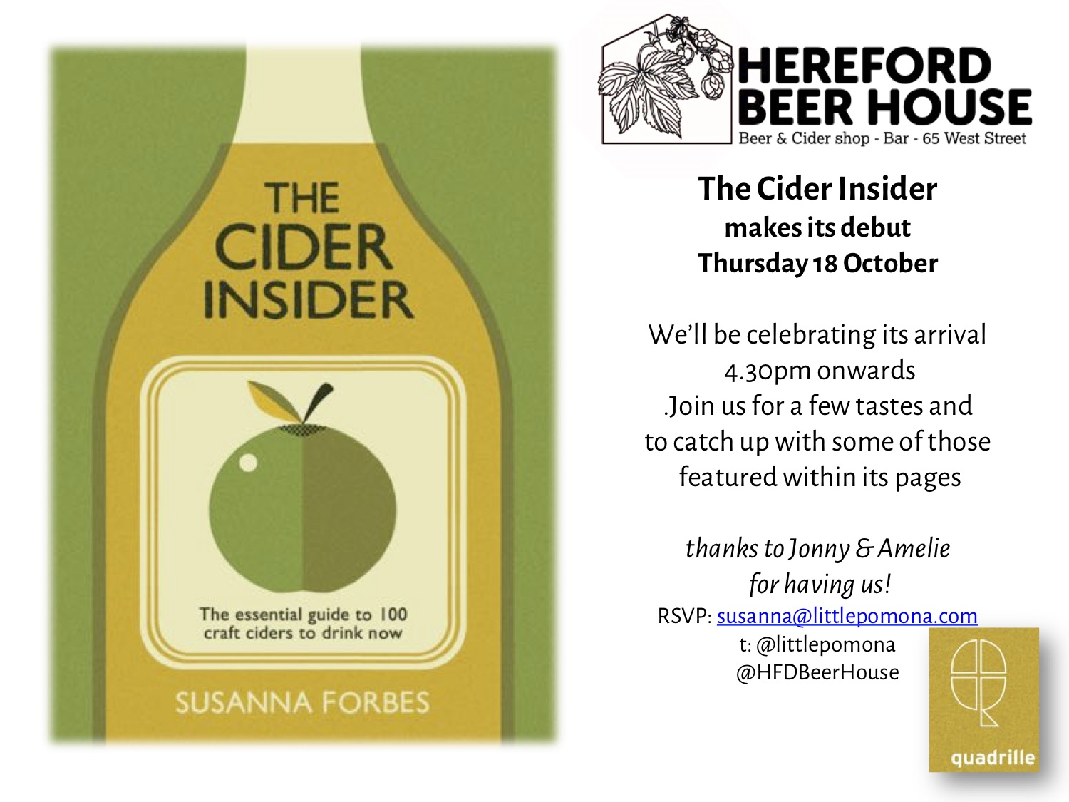 Head down to the Beer House in Hereford on the 18th October 2018 to see the book and get some tasting!