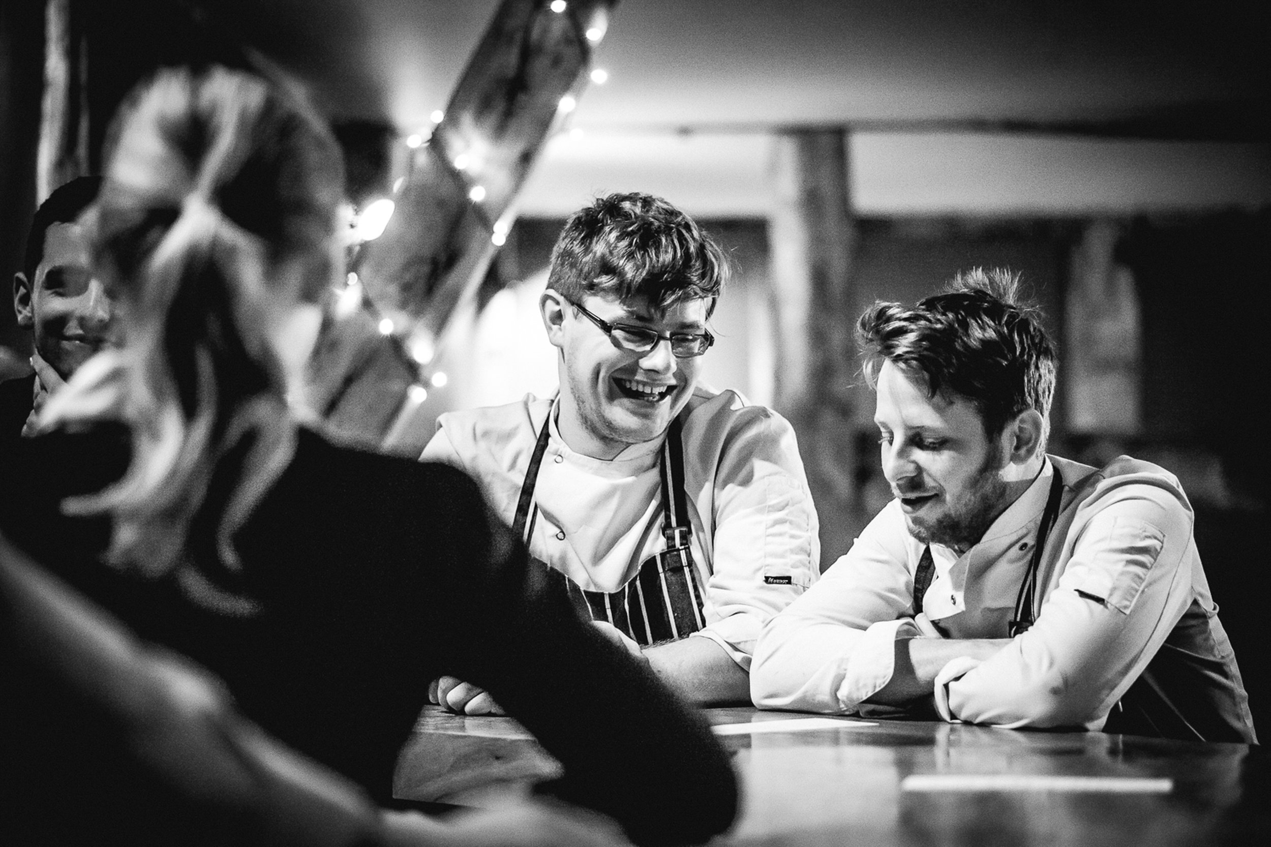 Rupert + Dorian.   circa 2014   -  Rupert helped out at the first supper clubs and would later come on board as a director and head chef of Burger Shop Worcester.