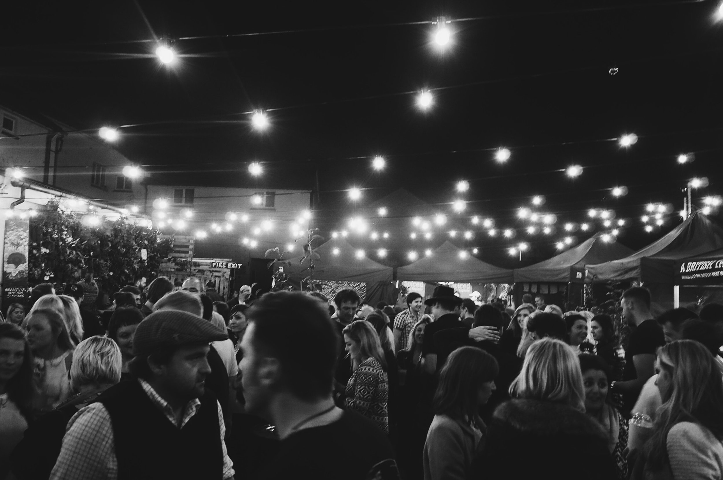 Packed crowds at Hereford Indie Food