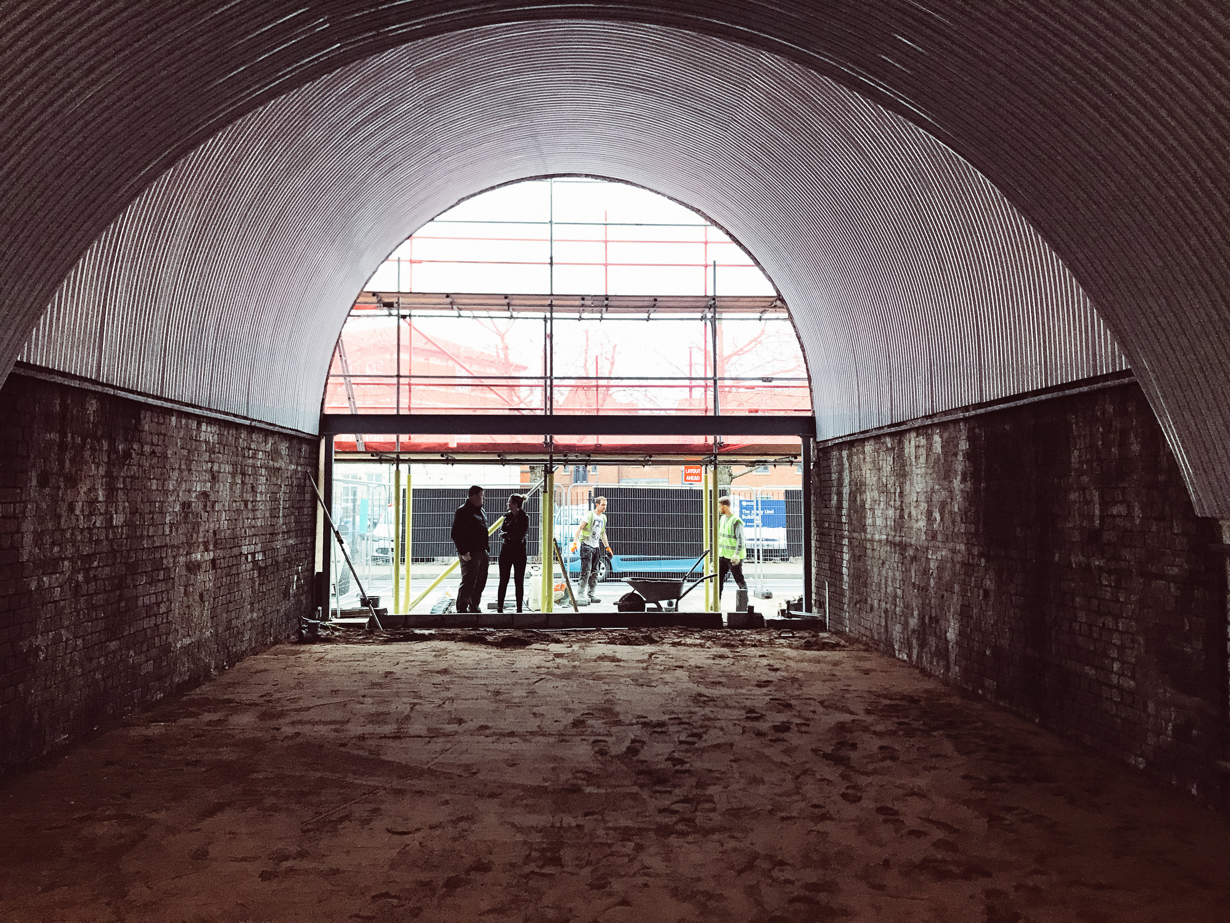 Building a Burger Shop.  The arches in Worcester in the early stages of development.