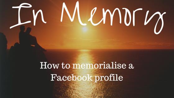 memorialising Facebook