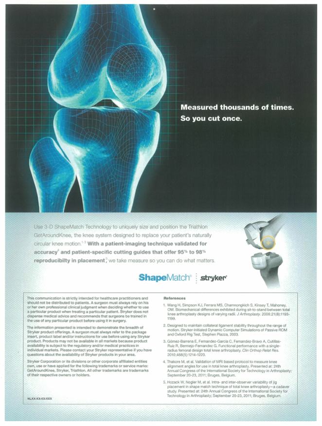 Surgical technology continues to advance. Here, the benefit is more precise pre-surgery measurement, saving the surgeon time and helping them be more confident of a well-fitted knee replacement.