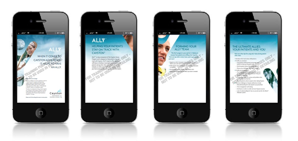Part of the program mentioned above includes a mobile app to help patients track their adherence.